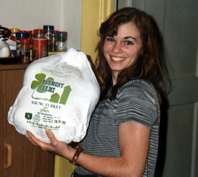 Anne with Huge Turkey