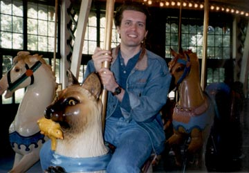 Steve on the carousel