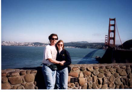 Steve and Anne at the Golden Gate Bridge