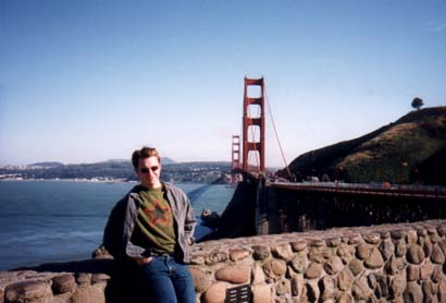 Zack at the Golden Gate Bridge