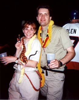 Anne and Steve as Steve and Terri Irwin at the ILM Halloween Party