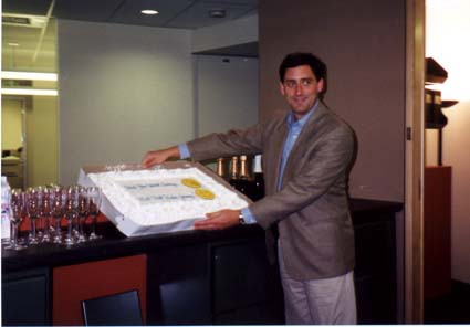Jeremy with the big cake