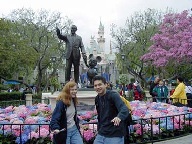 Anne and Jose at Disneyland