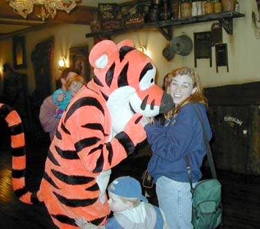 Anne with Tigger