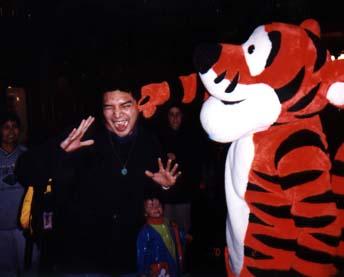 Jose with Tigger