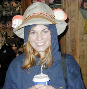 Anne in Tigger safari hat