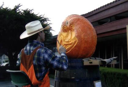 Farmer Mike at Half Moon Bay Pumpkin Festival