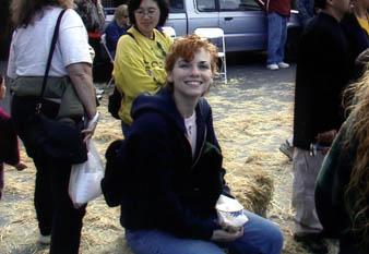 Anne at the Half Moon Bay Pumpkin Festival