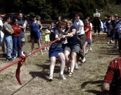 Anne at the front of the Tug-o-War team