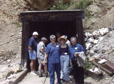 Mom, Dad, and Anne at 16-to-1 Mine entrance