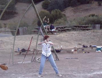 Anne at bat