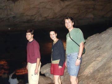 Reid, Merri, and Steve at Cumberland Cavern