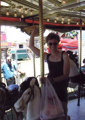 Anne on carousel