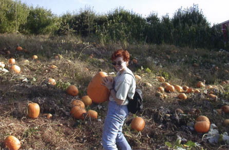 Anne with pumpkin