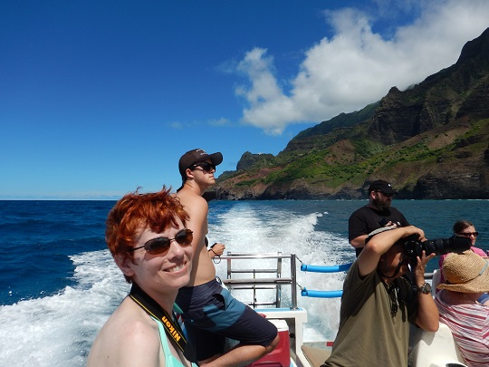 Anne on Na Pali Coast