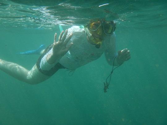 Anne snorkeling on Na Pali Coast