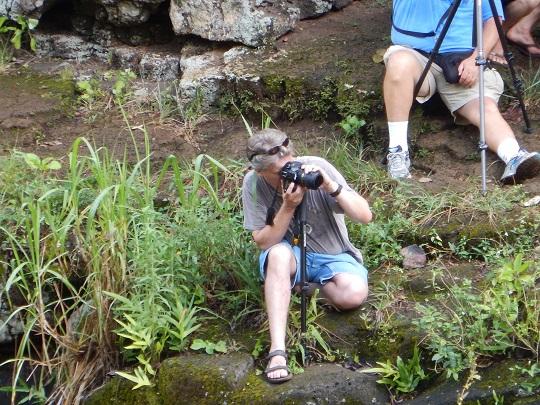 Steve photographing Ho'opi'i Falls