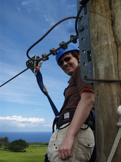 Anne ready to zip