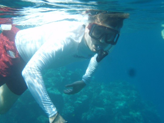 Steve snorkeling at Honaunau Bay