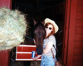 Anne with a horse at the Sonoma County Fair