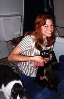Anne washing Cassady's chin
