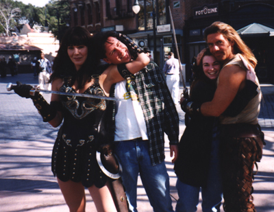 Jesse and Anne with Hercules and Xena