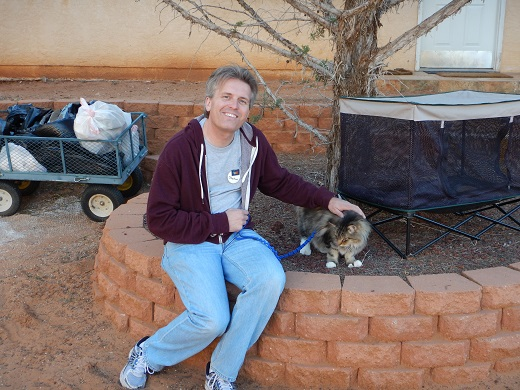 Steve with MacStar at Best Friends Animal Sanctuary