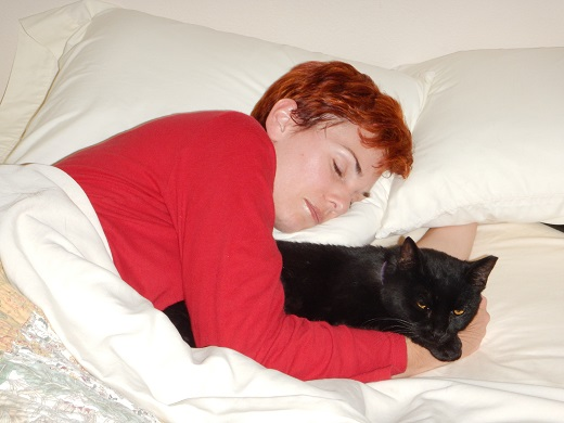 Anne with Kramer on a sleepover