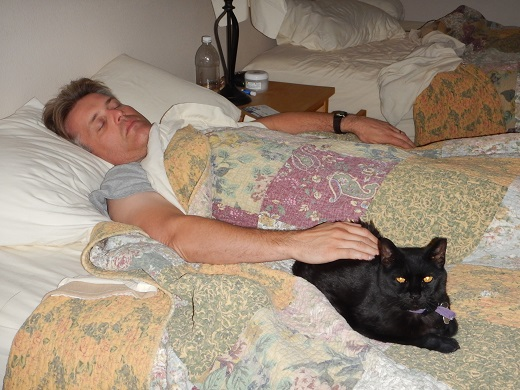 Steve with Kramer on a sleepover