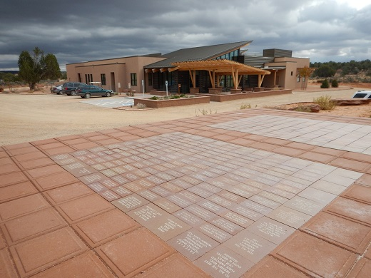 Engraved bricks at new Best Friends clinic