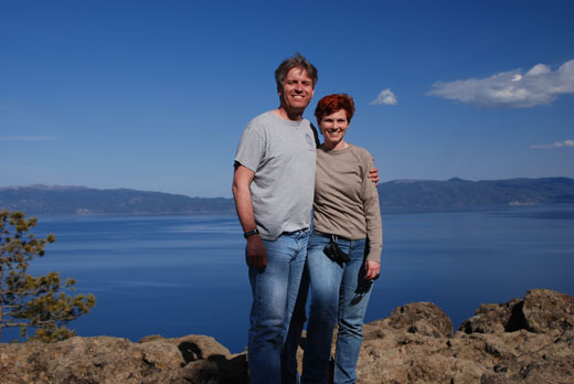Steve and Anne on Eagle Rock