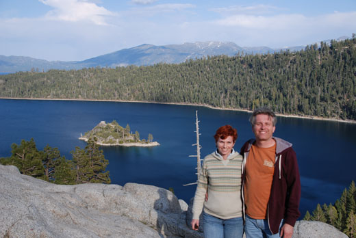 Anne and Steve at Emerald Bay