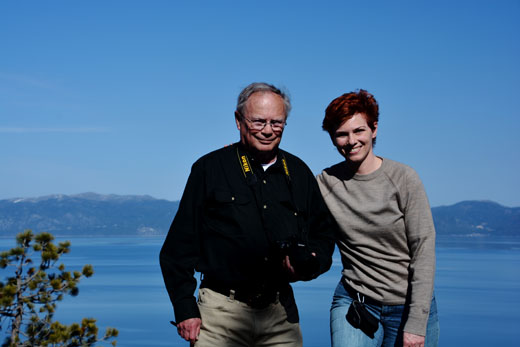 Dad and Anne on Eagle Rock