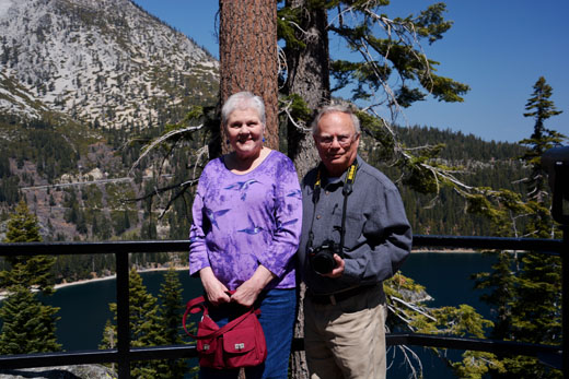 Mom and Dad at Emerald Bay