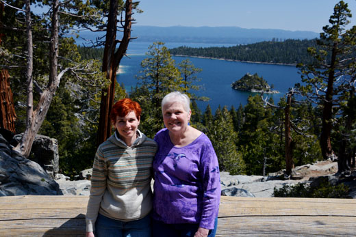 Anne and Mom at Eagle Falls