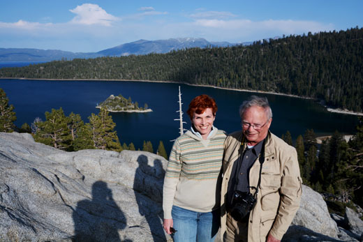 Anne and Dad at Emerald Bay