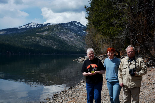 Mom, Dad, and Anne at Donner Lake