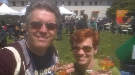 Steve and Anne at Cider Summit SF 2015