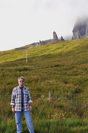 Steve with the Old Man of Storr
