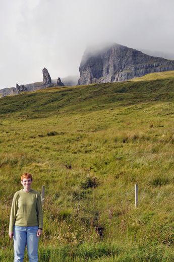 Anne with the Old Man of Storr