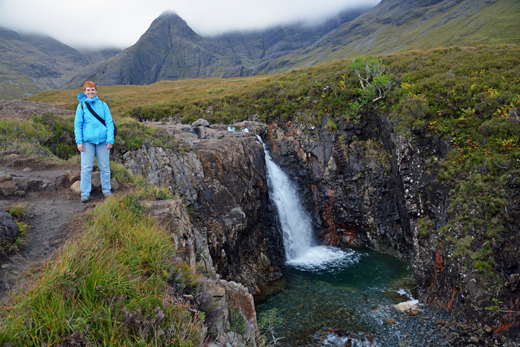 Anne at the Fairy Pools