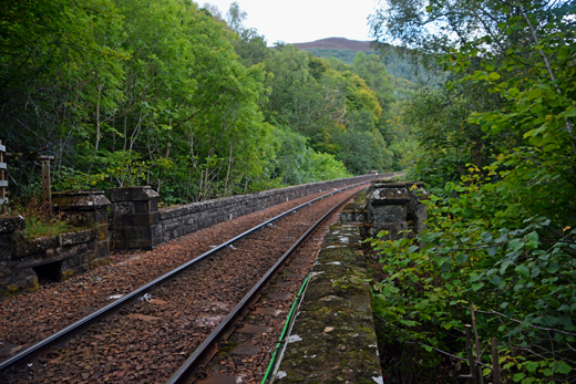 tracks at the top of the railway viaduct