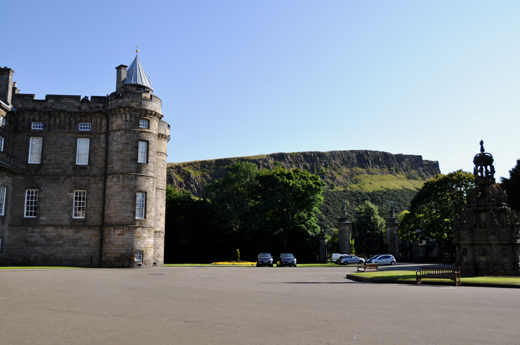 Arthur's Seat from Palace at Holyrood House