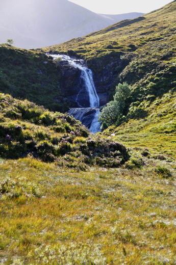 waterfall on the road to Portree