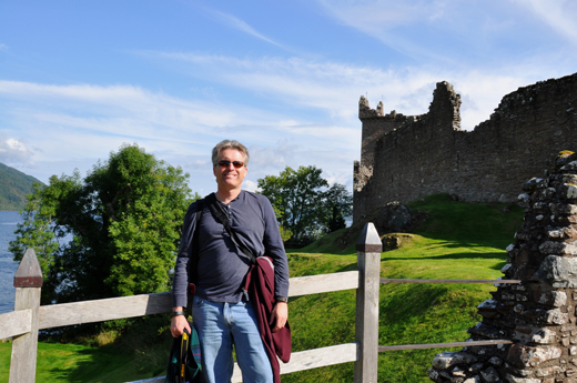 Steve at Urquhart Castle