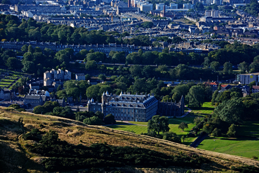 Palace of Holyrood House from Arthur's Seat