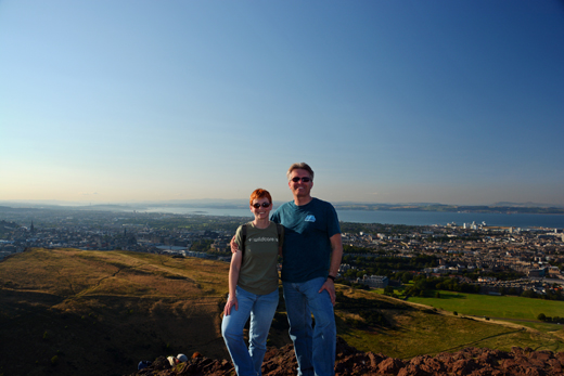 Anne & Steve at Arthur's Seat