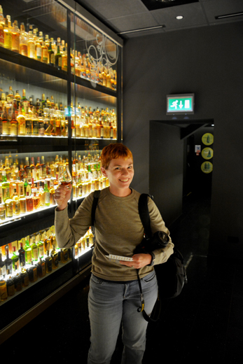 Anne at the Scotch Whiskey Experience