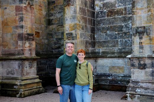 Steve & Anne at Roslyn Chapel