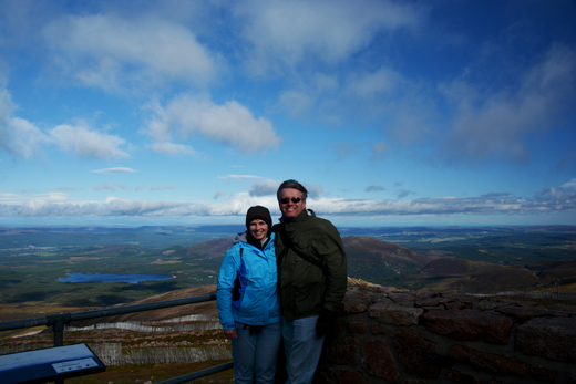 Anne and Steve on Cairngorm Mountain